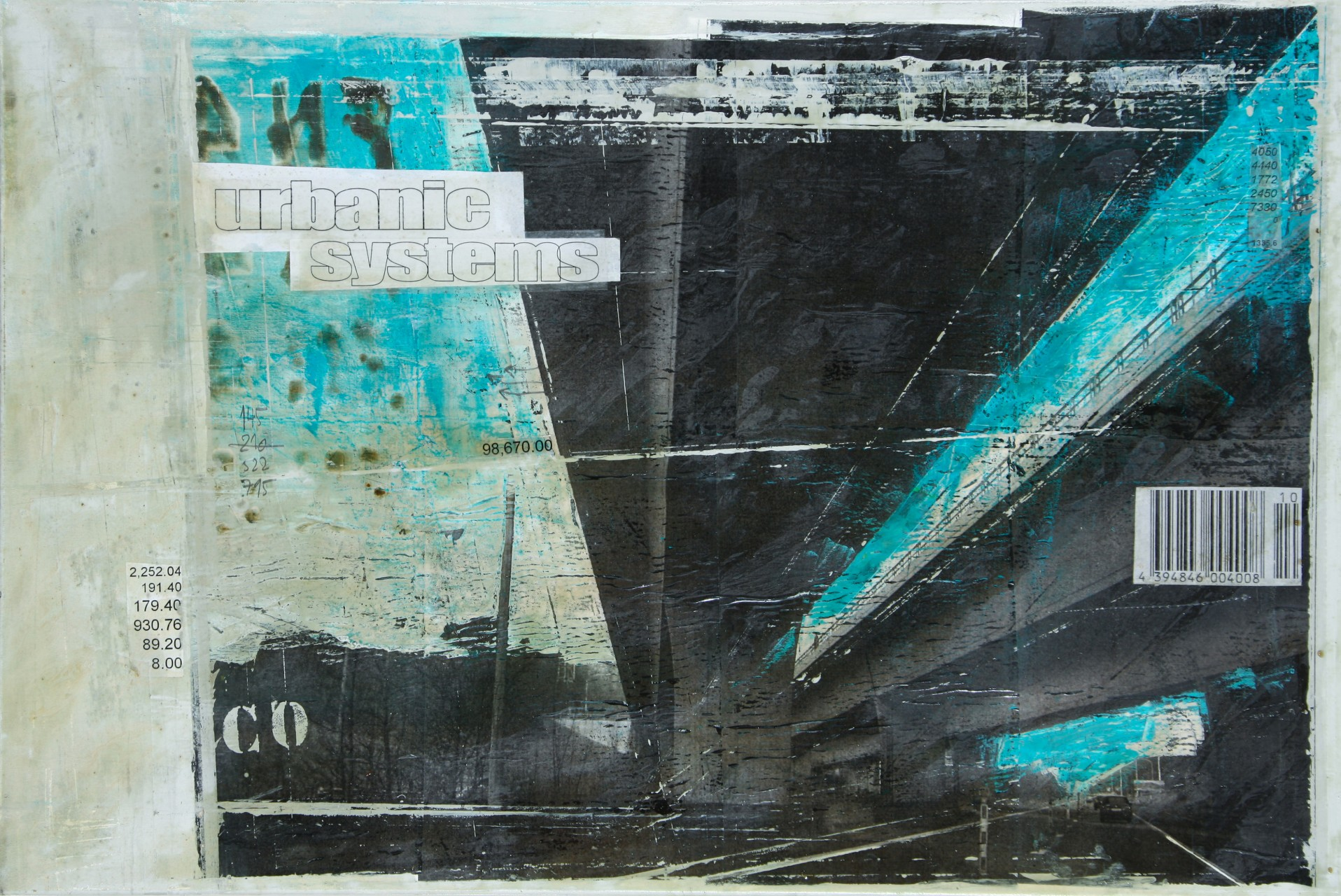 Interchanges - Namur (B) - collage photo, huile, acrylique sur toile - 80 x 120 cm - 2012