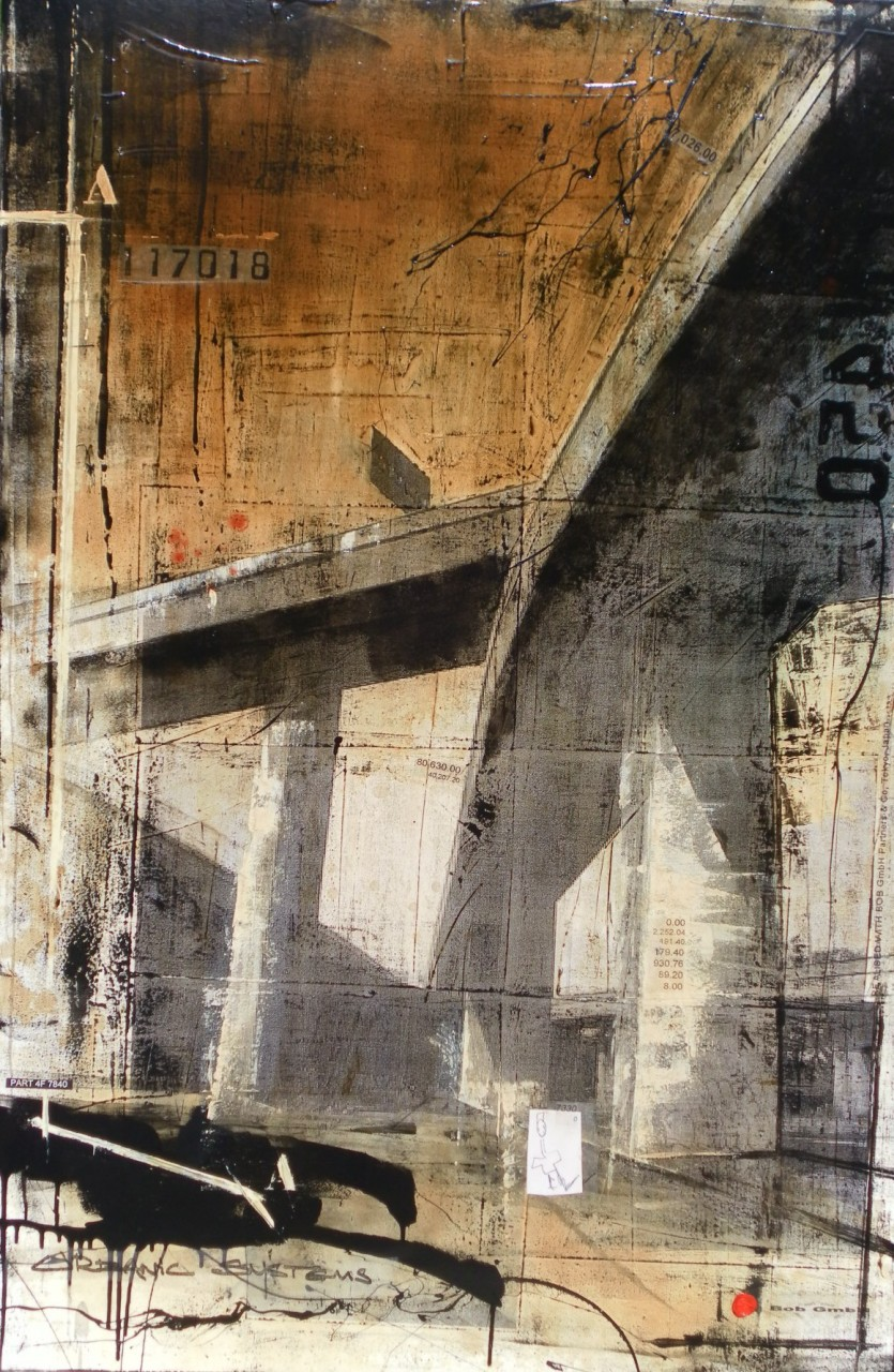 Interchanges - Montreal (CDN) - collage photo, huile, acrylique sur toile - 150 x 100 cm - 2010
