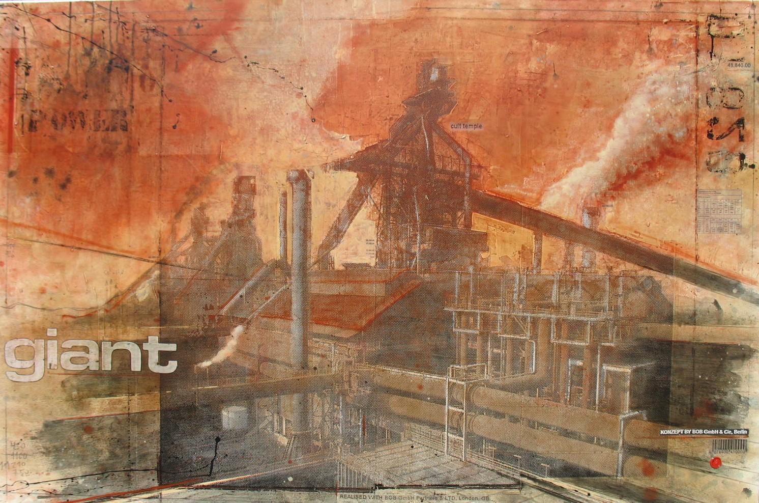 Giant - Esch-sur-Alzette (L) - collage photo, huile, acrylique sur toile - 100 x 150 cm - 2007